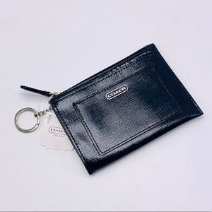 NWT Coach Darcy Black Patent Leather Medium Skinny